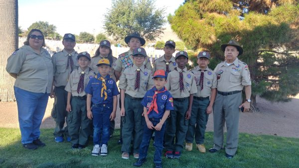 Scouts place flags for Memorial Day.jpg
