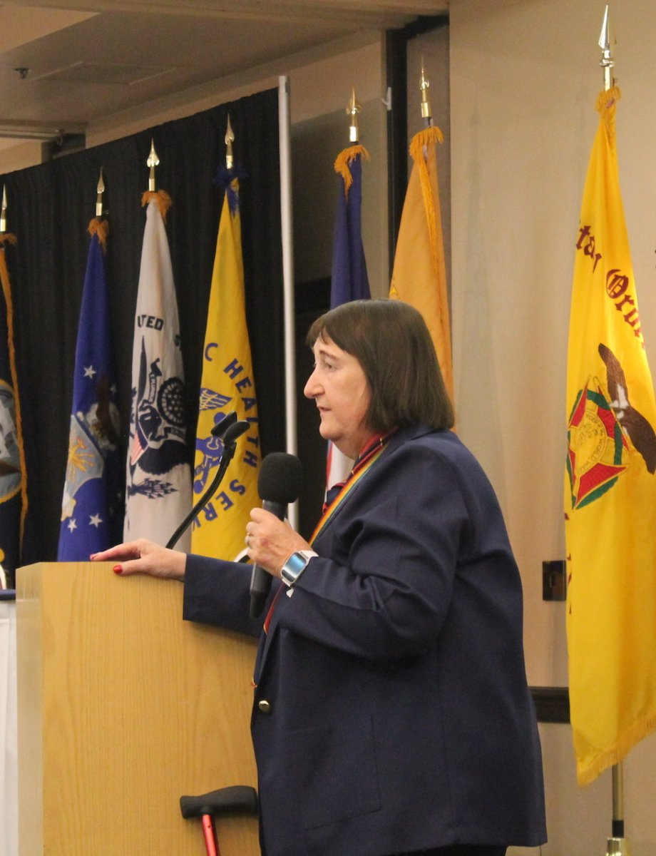 CPT Paula Mitchell speaks at the National Convention.JPG