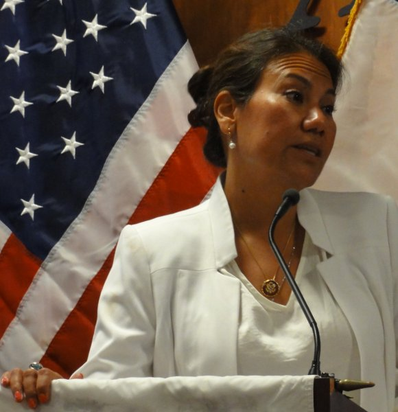 Congresswoman Answers Questions.JPG