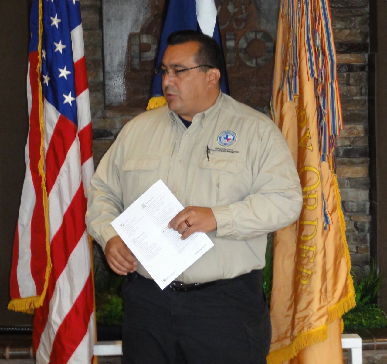 Alex Miranda Speaks of Disaster Preparedness.JPG