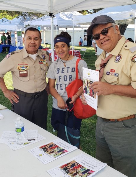 LTC Beltran with Yucca Council BosyScout during a recurity drive at Marathon Health Fair.jpg