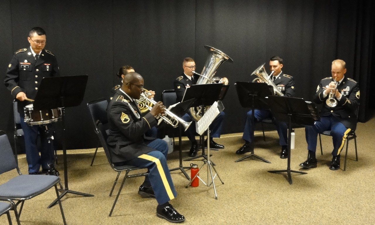 Members of the 1st Armored Division Band play the Musical Prelude.JPG