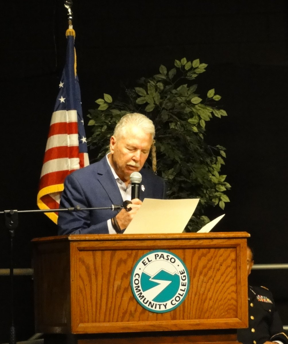 El Paso County Judge Ricardo A Samaniego reads the County Resolutions marking the MOC.JPG