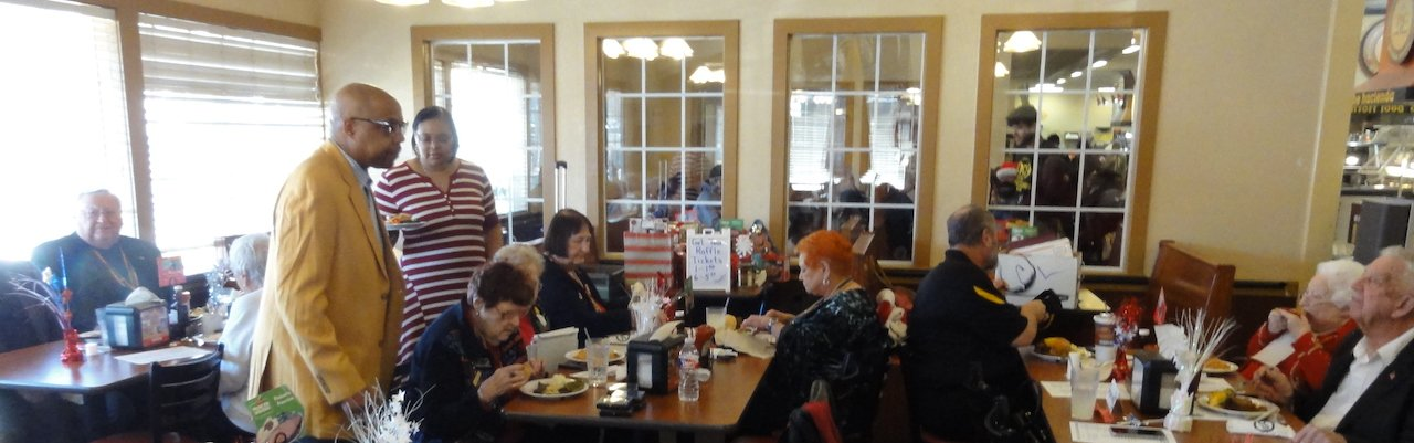 Christmas Luncheon Meeting was held at the Golden Corral Restaurant.JPG
