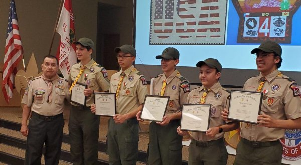 LTC Jesus Beltran with new Eagle Scouts.jpg