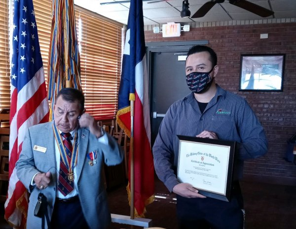 El Paso Applebees on George Dieter Present with Certificate.jpeg