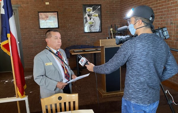 Chapter Cmdr Interviewed by KVIA News prior to mtg.jpeg