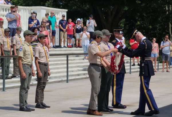 El Paso Scout Troop 4 at the Tomb of the Unknowns.jpeg